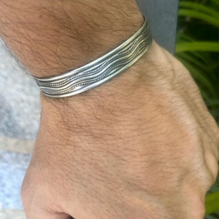 Bracelete Masculino Metal Silver Rock - 4MEN (Ajustável)
