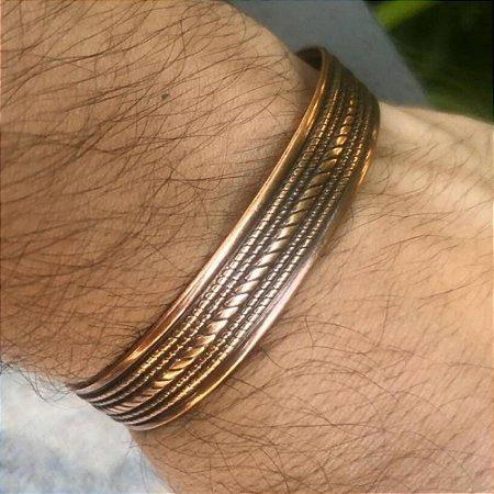 Pulseira Masculina Metal Bronze - 4MEN (Ajustável)