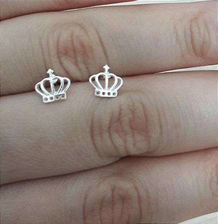 Brinco de Prata 925 Coroinha Realeza - MOLARA