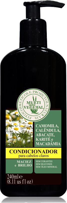 Multi Vegetal  - Condicionador de Camomila  (Cabelos Claros)  240ml