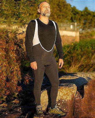 Bretelle Calça Ciclismo Forro Acolchoado Proteção UV50+ Branco