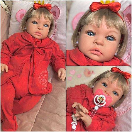 Bebê Reborn Linda Siliconada 53cm Menina Bebê Promoção Imperdivel