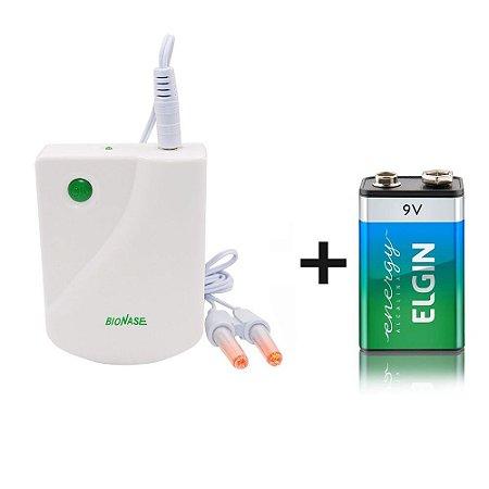 Aparelho Bionase Laser Tratamento Rinite Sinusite Alergia Novo 2020 Branco Com Bateria 9v inclusa