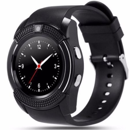 Relógio Smartwatch V8 Bluetooth  Original Touch Gear Chip - Preto NOVO