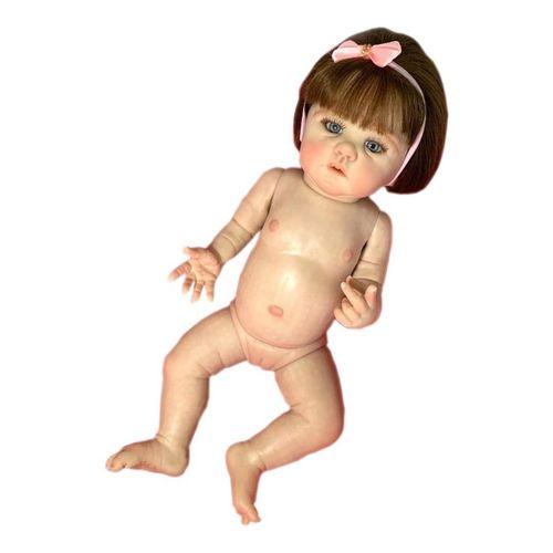 Bebê Reborn Corpo Todo Vinil Silicone Harlow Realista Infantil Presente Doll Artesanato