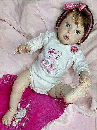 Bebê Reborn Corpo Todo Vinil Silicone Raven Realista Infantil Presente Doll Artesanato