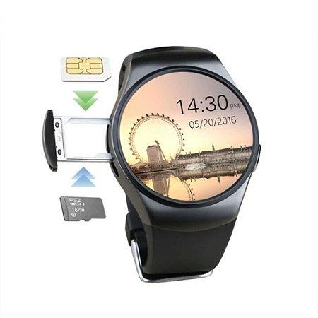 Relógio Bluetooth Smartwatch Kw18 Lemfo Monitor De Frequência Cardiaca Relógio Inteligente