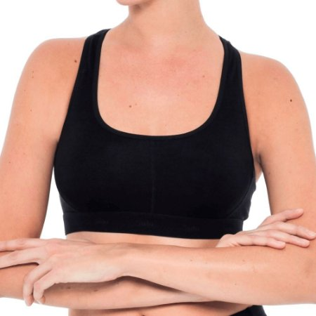 TOP UNDERWEAR ESSENTIAL MERINO FEMININO SOLO PRETO