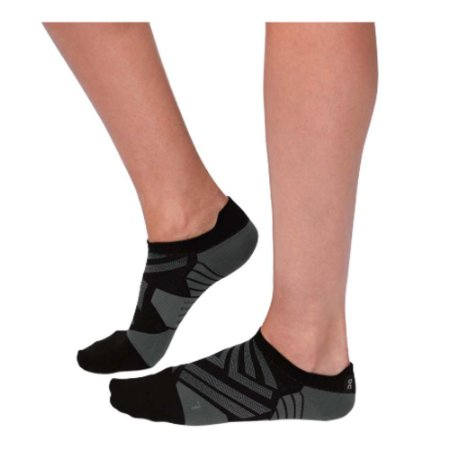 MEIA DE CANO CURTO ON RUNNING LOW SOCK FEMININA PRETO
