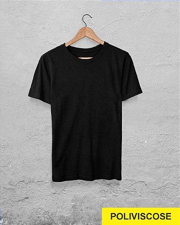 30 Camisetas Preta - Poliviscose