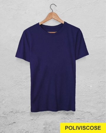 40 Camisetas Azul Marinho - Poliviscose