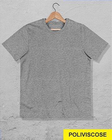 30 Camisetas Cinza Mescla - Poliviscose