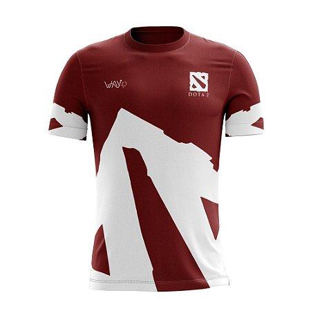 "Camiseta Esportiva ""Jersey"" Proplayer Dota2 Vermelha"