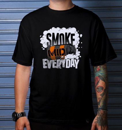 CAMISETA CASUAL SMOKE MID