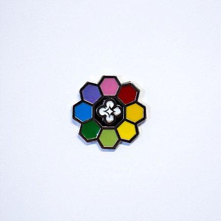 Pin | Arco Íris | Metálico