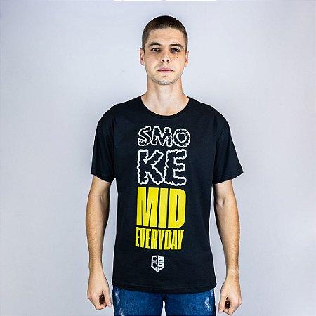 Camiseta Casual CBCS Smoke Mid Everyday