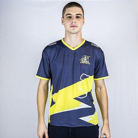 Camiseta Esportiva Jersey Torcedor Azul GOD Esports Oficial
