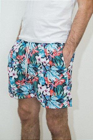 Shorts de Verão Floral