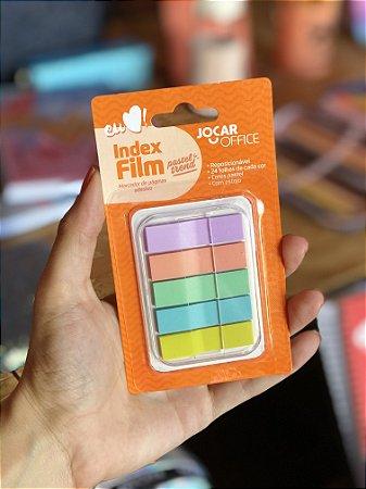 Marcador de paginas adesivo Index Film Pastel trend Jocar Office