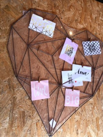 Painel memory board coração 72x72cm