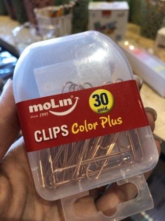 Clips rose gold Molin 30 unidades