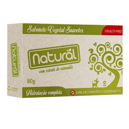 Sabonete Natural Camomila 80g Orgânico Natural