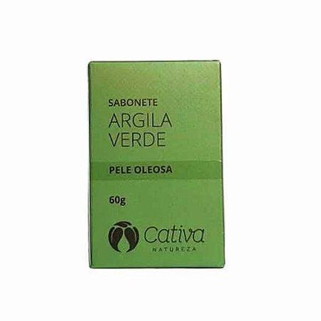 Sabonete Pele Oleosa 60g (Argila Verde) Cativa Natureza
