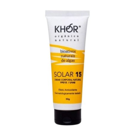 Protetor Solar Natural FPS15/UVA8 60g Khor