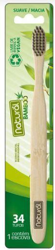 Escova Dental de Bamboo Orgânico Natural