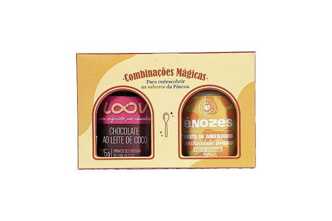 Kit Páscoa Loov ao Leite de Coco + Amendoim