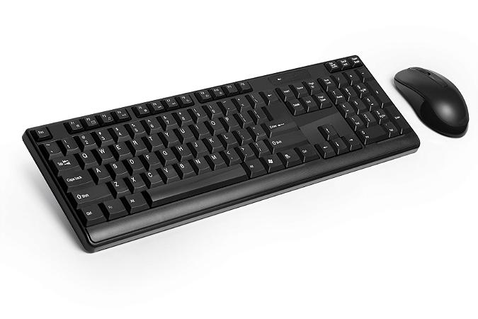 Teclado e Mouse Preto Wireless 2.4GHz USB Multilaser - TC162