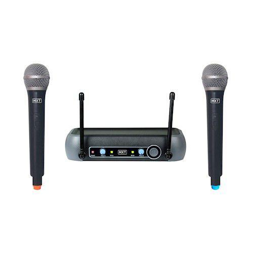 Microfone MXT UHF 202 COM DOIS MICROFONES