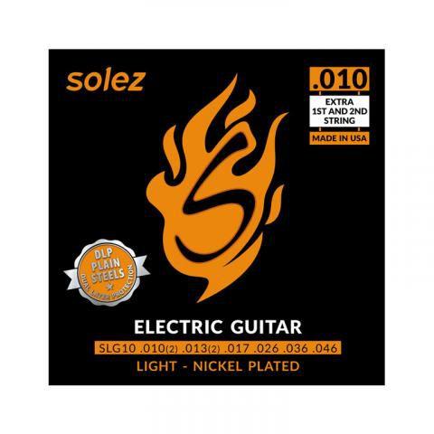Encordoamento para guitarra Solez SLG .010