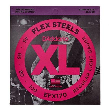 Encordoamento  para baixo elétrico D'Addario EXL170 4 cordas
