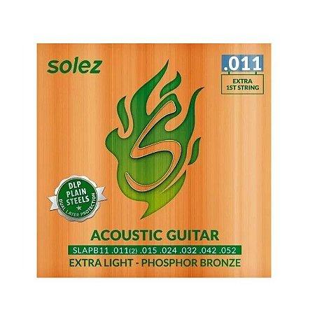 Encordoamento para violão aço Solez 0.11
