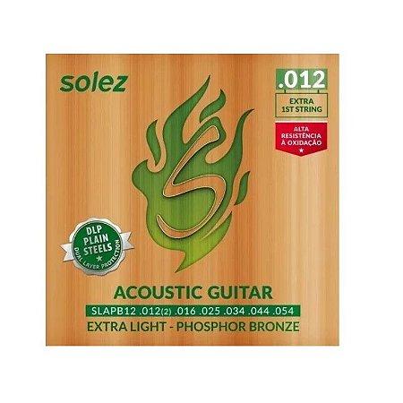 Encordoamento para violão aço 0.12 SLAPB 12