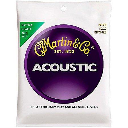 Encordoamento para violão aço Martin  Acoustic  M170 0.10