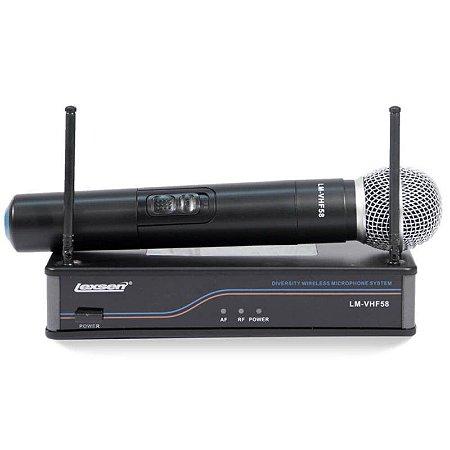 Microfone Lexsen sem fio LM-VHF 58