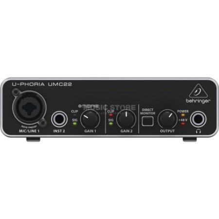 Interface de áudio Behringer U-Phoria UMC 22