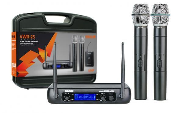 MIcrofone Sem Fio Vokal VWR-25