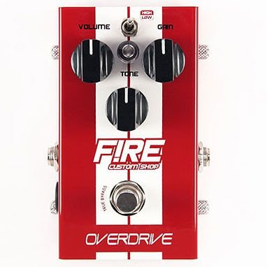 Pedal Para Guitarra Fire Overdrive  Custom Shop