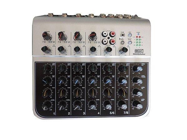 Mesa de Som Boxx Mix04AU 8 Canais