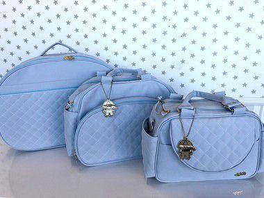 Kit Bolsas 3 Peças Azul