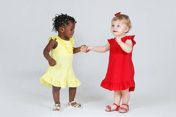 Vestido Infantil Pompom YB