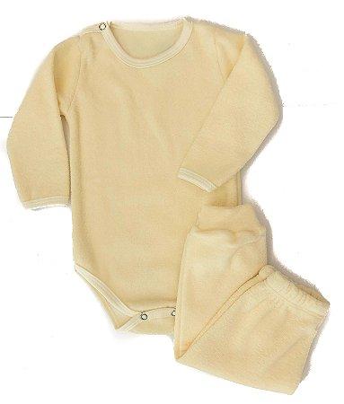Conjunto Buclê Amarelo Yasmin Baby