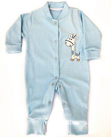 Macacão Soft Girafa Azul Claro