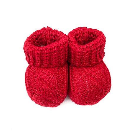 Sapatinho de tricô Vermelho