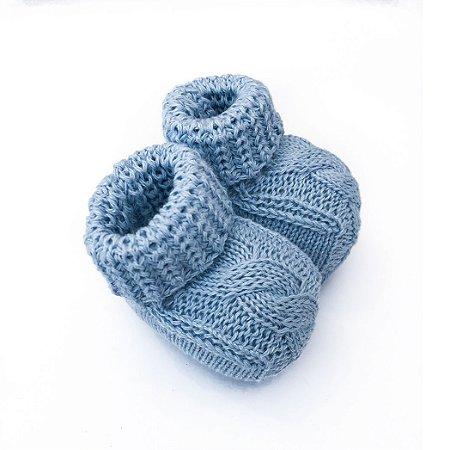 Sapatinho de tricô Azul Claro