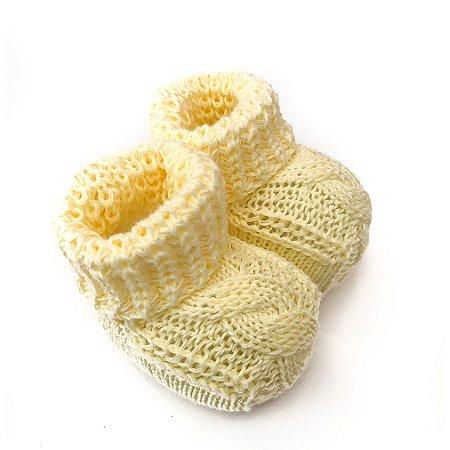 Sapatinho de tricô Amarelo