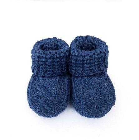 Sapatinho de tricô Azul Marinho